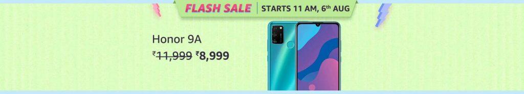Honor 9A Flash Sale Amazon Prime Day Sale