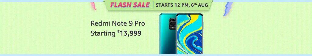 Redmi Note 9 Pro Flash Sale during Amazon Prime Day Sale